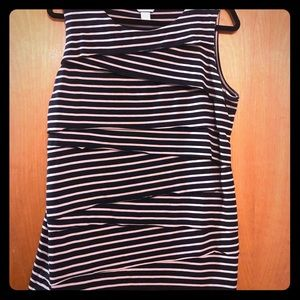 Christopher and Banks XL stripe layer front tank
